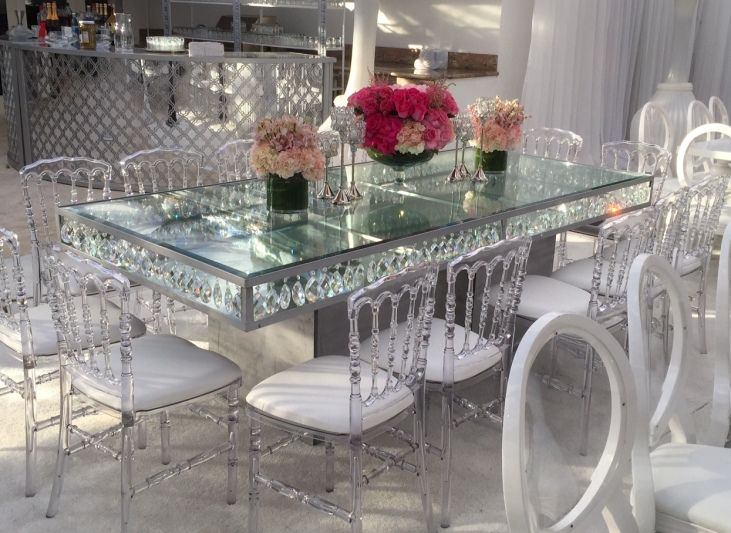 Incredible Inspiration Mirror Glass Dining Table Tables Palace Party Rental Versatile Dining Chairs Dinning Room Decor Table