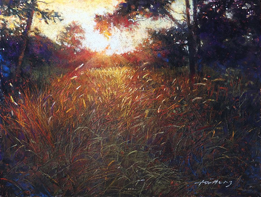 """Evening Meadow by Tai Meng Lim Pastel ~ 12.5"""" x 16.5"""""""