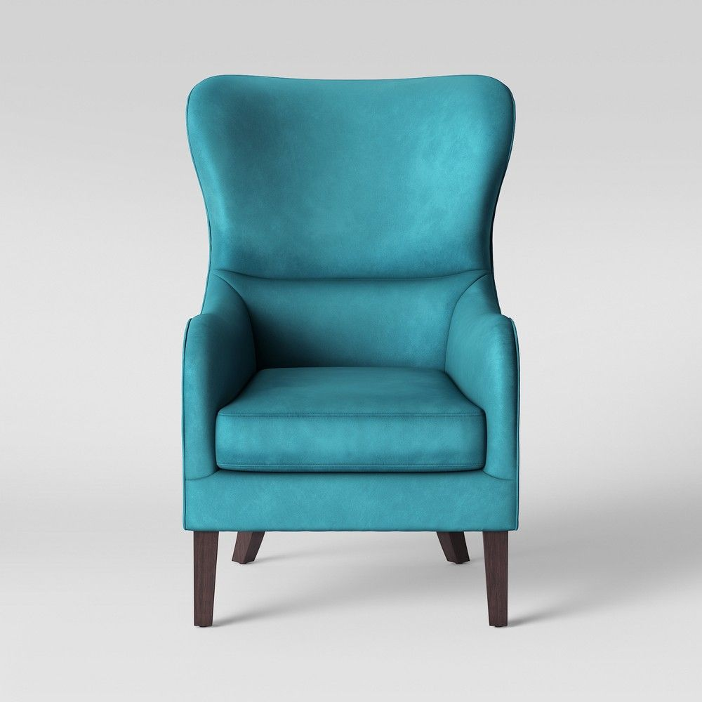 Teal Wingback Chair Torenia Wingback Chair Velvet Teal Blue Opalhouse Products