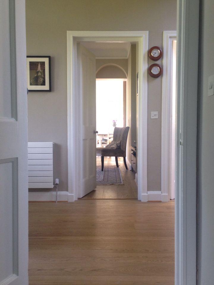 Hallway Painted In Colortrend Light Lichen Hallway Paint