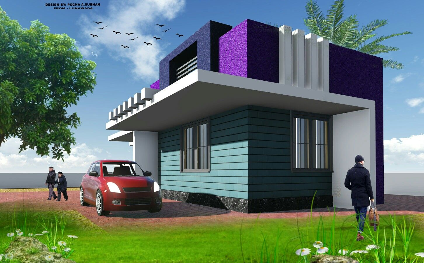 indian house design elevation by pocha a subhan a subhanpocha