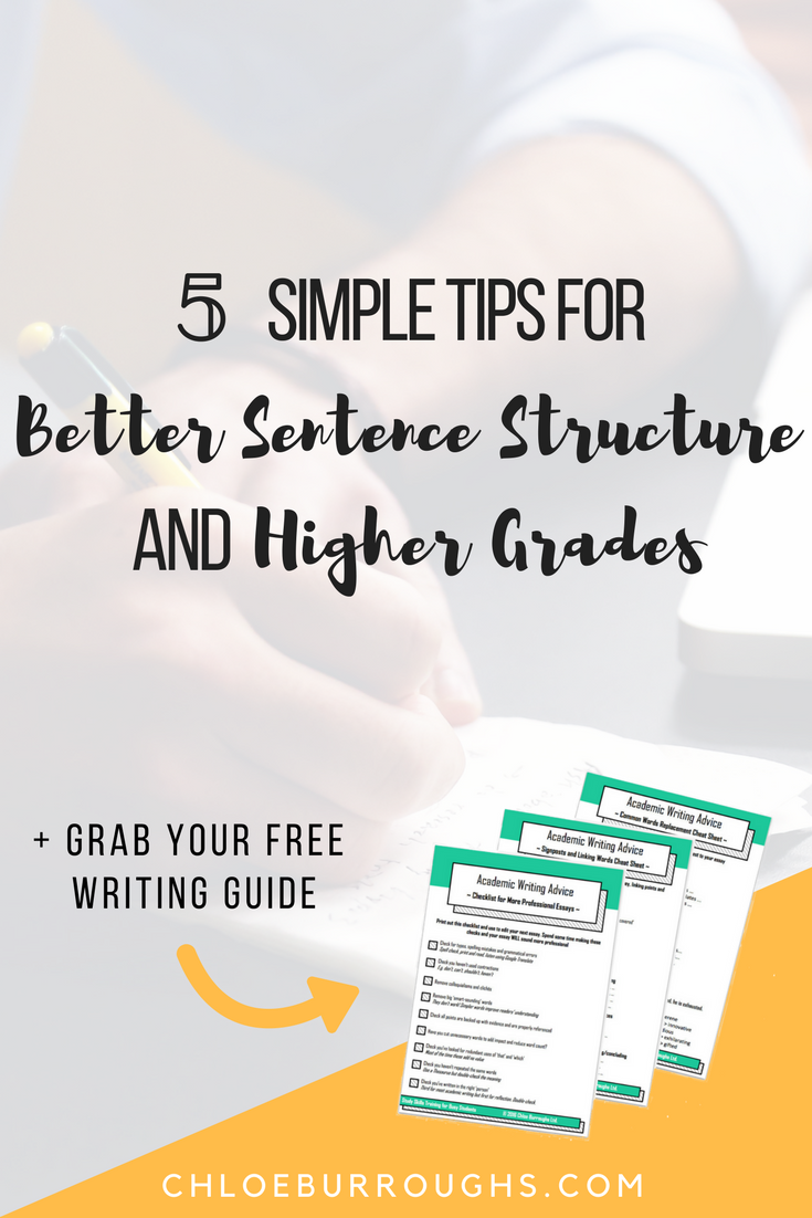 5 Simple Tips for Better Sentence Structure and Higher Grades   College  Hacks   Pinterest   Sentences, College hacks and College