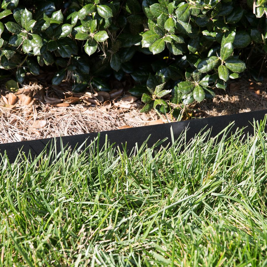 Black powder coated edging Landscape edging, Steel
