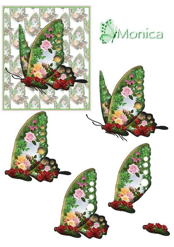 Ornaré rose-strass 3D papillon (3)
