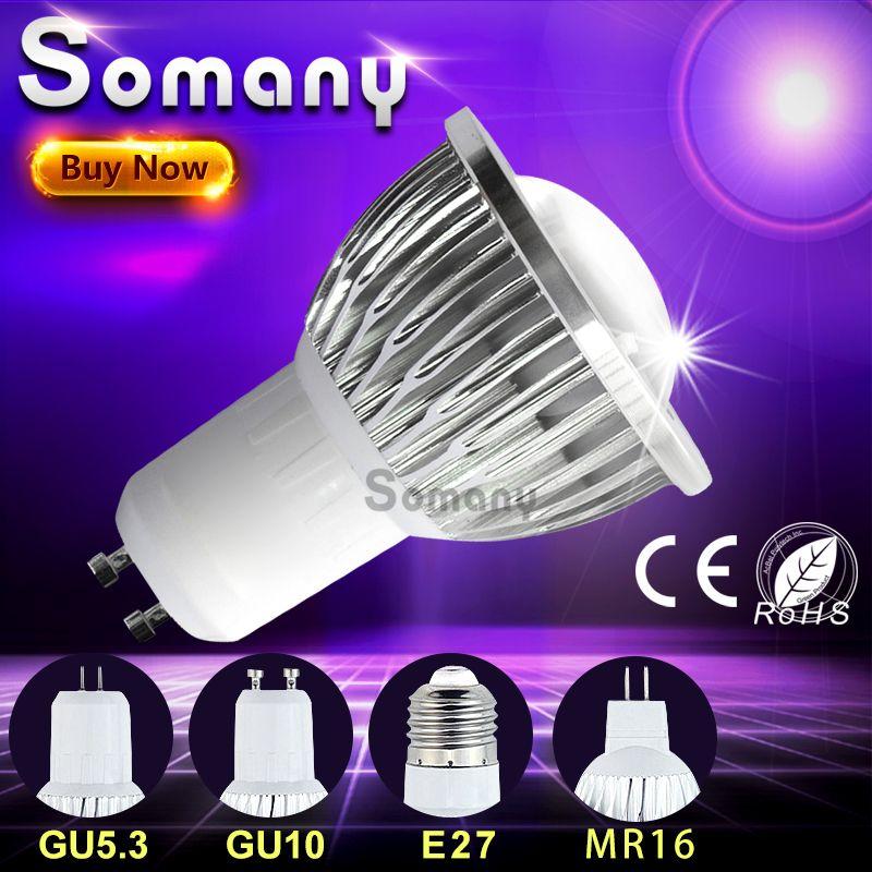 Dimmable Cob Led Spotlight Gu10 Gu5 3 E27 110v 220v Led Spot Light