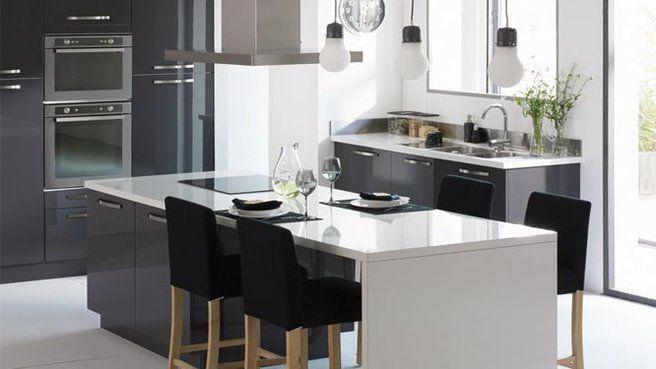 la cuisine version xxl home decor pinterest alinea cuisine alin a et ilot. Black Bedroom Furniture Sets. Home Design Ideas