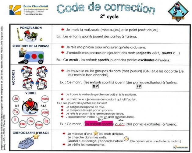 Code De Correction Commission Scolaire Des Navigateurs