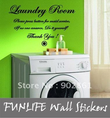 Laundry Room Vinyl Wall Quotes Best Funlife40X60Cmlaundryroomdoityourselfvinylhomewallquotes Review