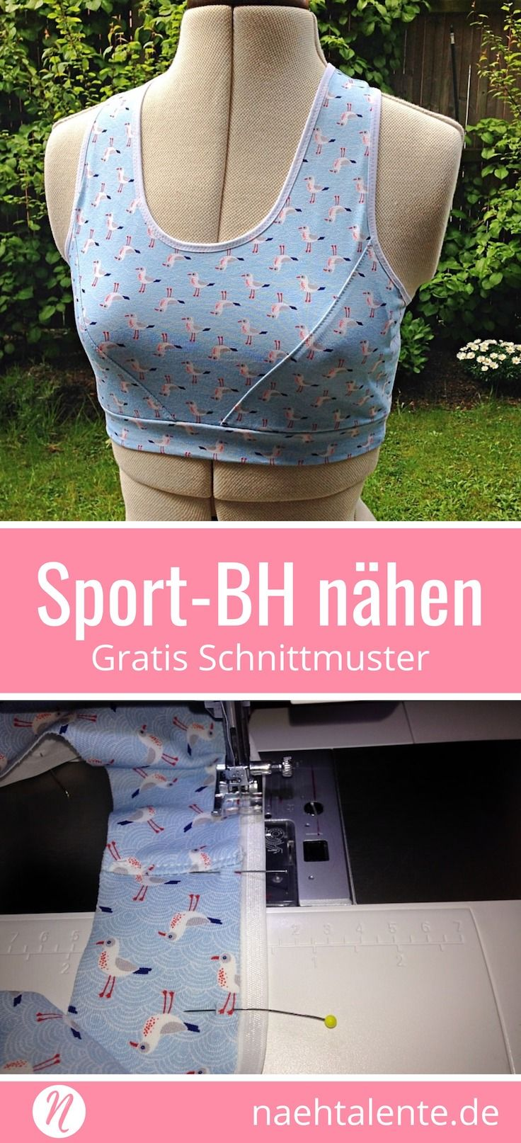 Nähanleitung & Gratis Schnittmuster: Der ultimative Sport-BH | Bh ...