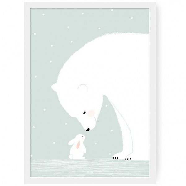 Affiche together imprim e sur du papier mat 170 grammes - Dessin d un ours ...