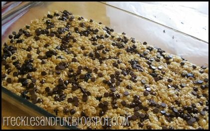 No Bake Granola Bars: Melt 1/3 C. Butter + 10 Oz.