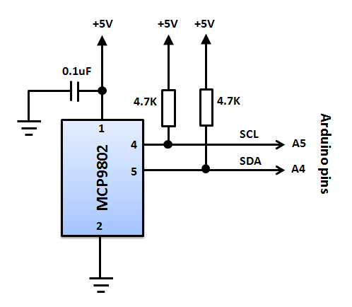 Mcp9802 Is A Digital Temperature Sensor From Microchip That Measures