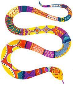 Rainbow Serpent Google Search Snake Art Snake Painting Snake