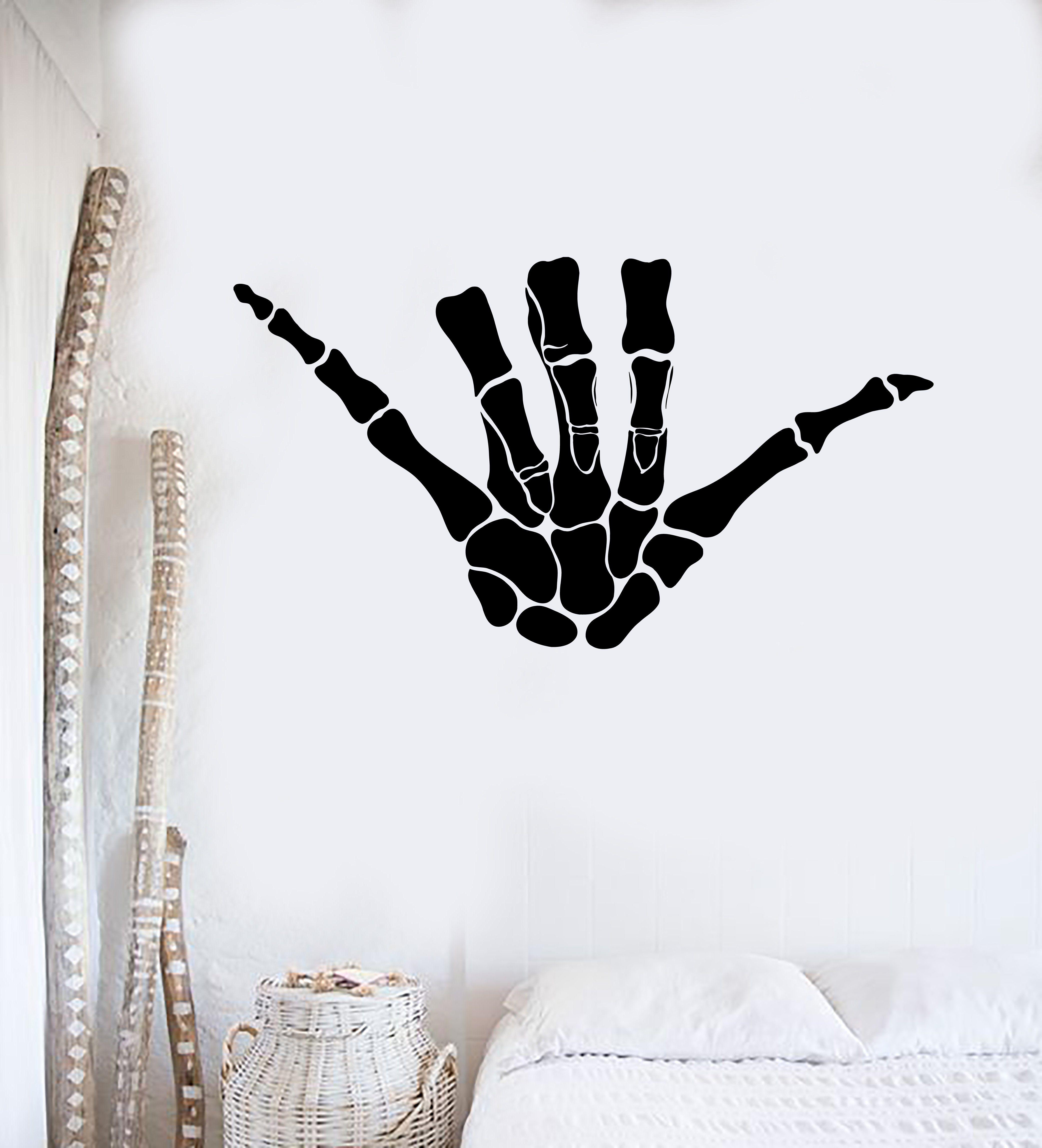 Hang ten loose Hawaii surfer hand gesture Vinyl Decal permanent indoor outdoor