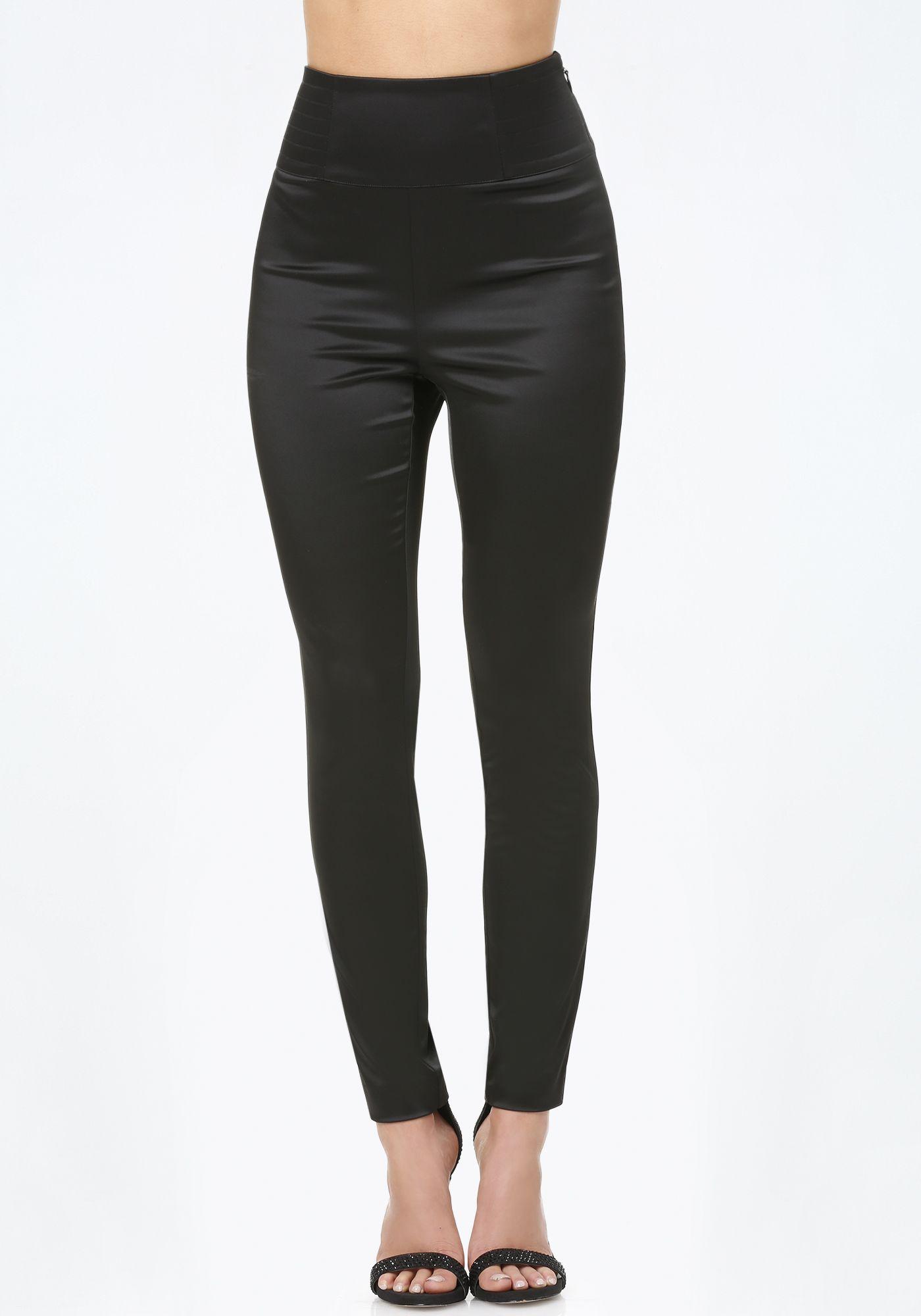 Tiana Satin High Rise Pants In 2019 Skinny Dress Pants