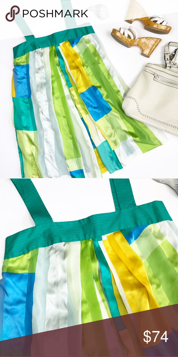 ae1c6778c5 Catherine Malandrino silk colorblock dress sz 6 Stunning silk dress perfect  for any summer party!