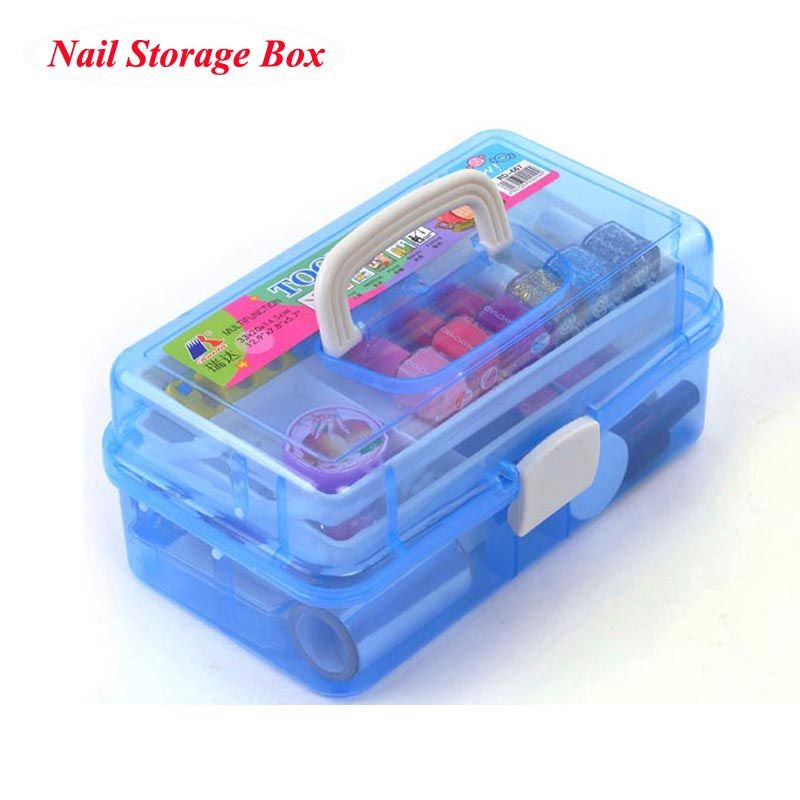 Professional Multi layer Nail Art Storage Kit for Nail Gel Manicure ...