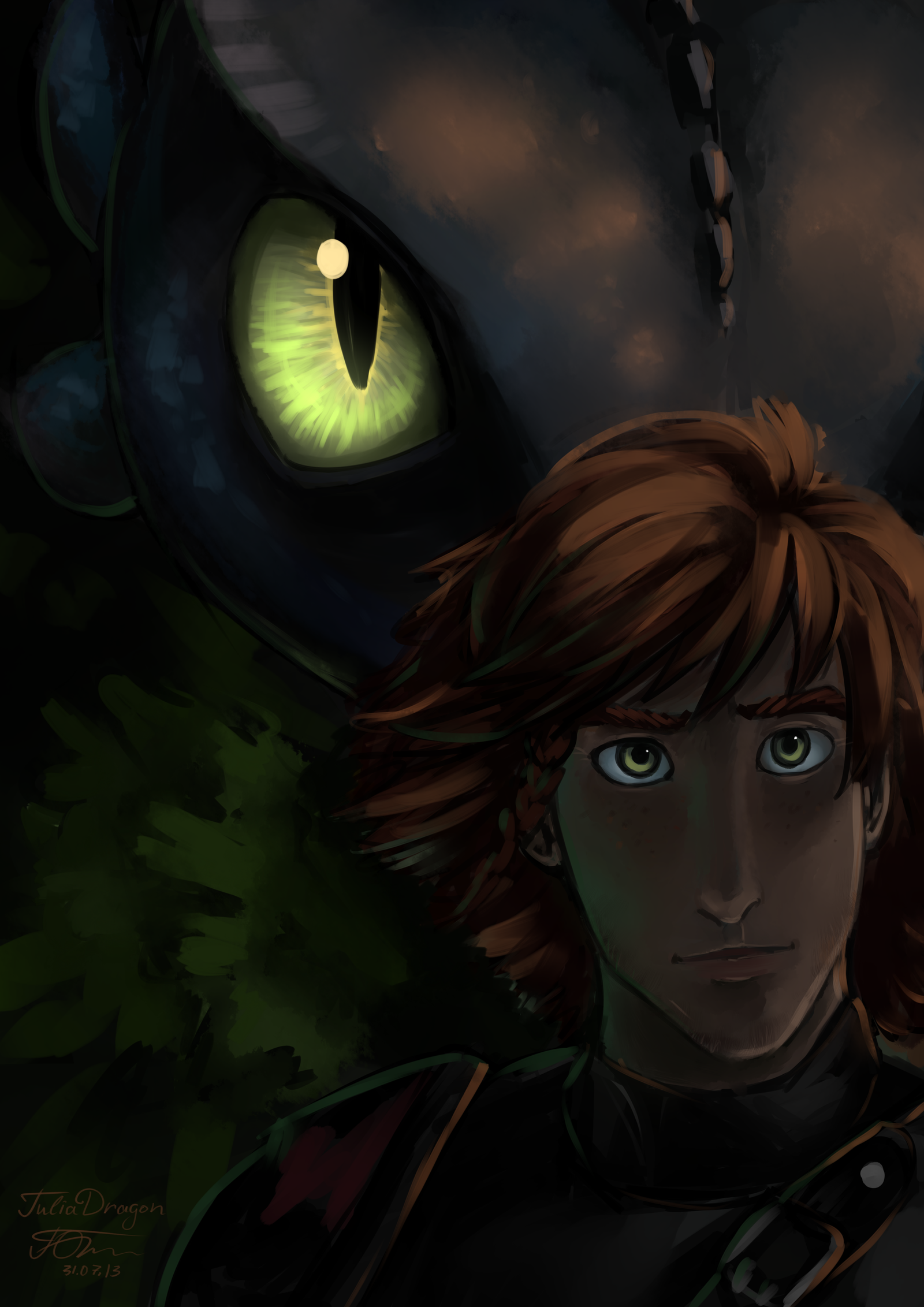 HTTYD2 Awesome art piece! Toothless seems to be invincible and like a warrior, Hiccup seems more like he'll talk first then fight.