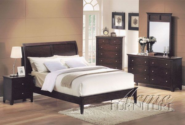Soho Espresso Master Bedroom Set 07504 Set By Acme Bedrooms