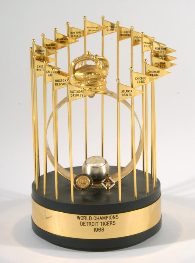 competitive price 1d5a0 ef44b world series trophy for the 1968 detroit tigers   Baseball ...
