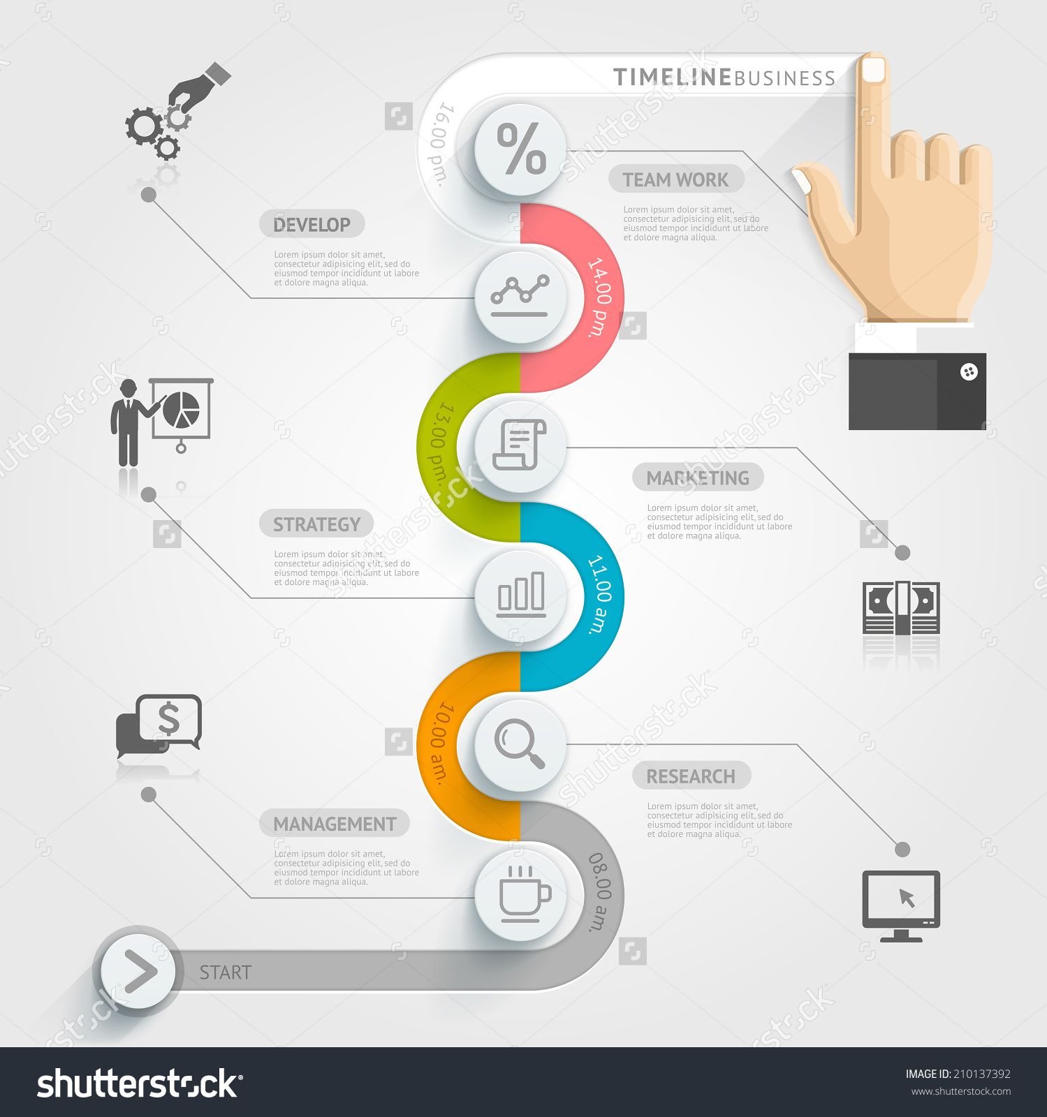 Business timeline infographic template vector illustration can be business timeline infographic template vector illustration can be used for workflow layout banner diagram number options web design ccuart Image collections
