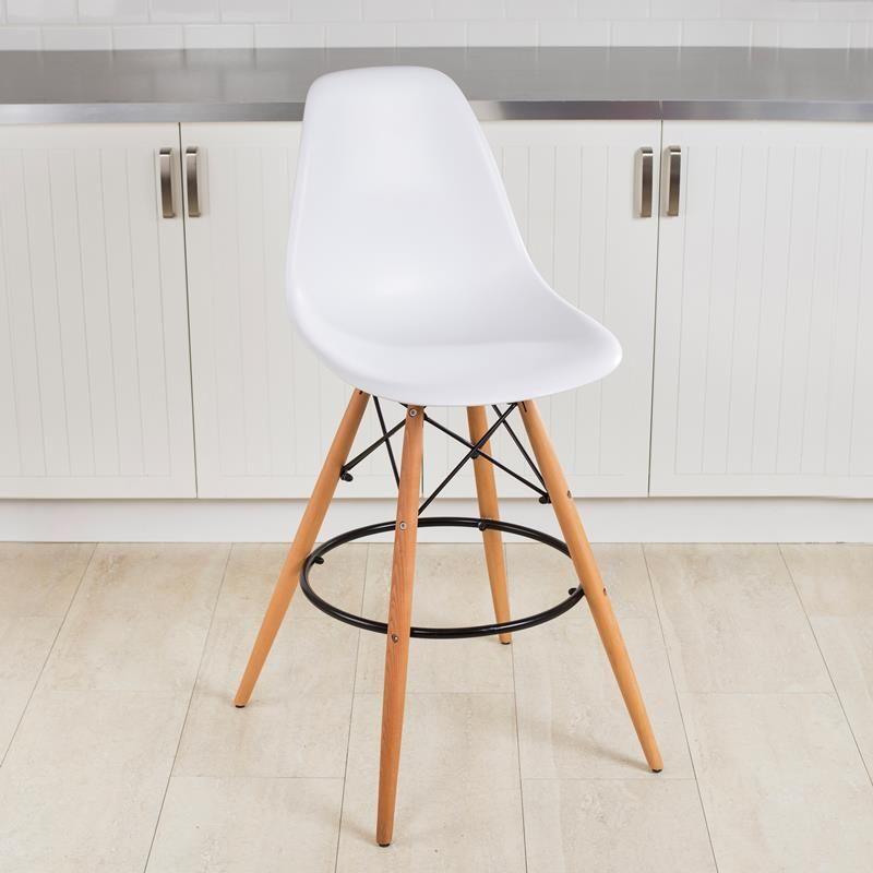 ksp eiffel stool w wood frame 53 x 47 x 109 cm white kitchen stuff