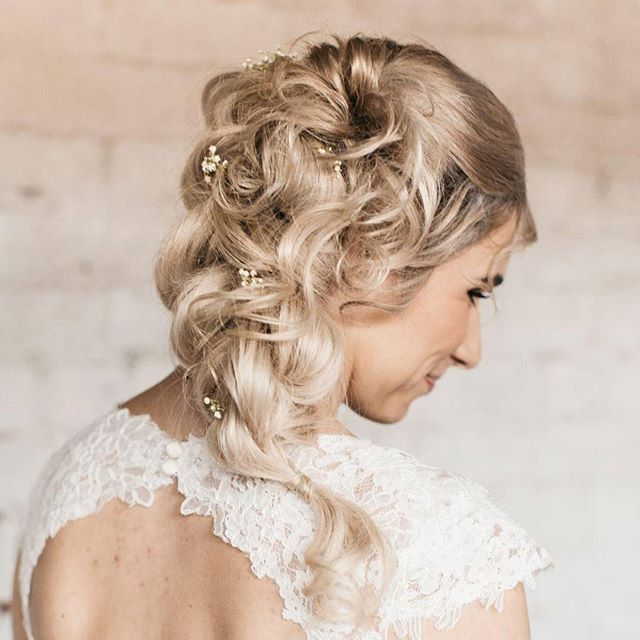 Beautiful bride. Thank you for letting me be your stylist on your special day!  #weddinghair