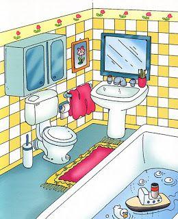 Cuarto de baño | La casa y el hogar | Spanish house, Teaching ...
