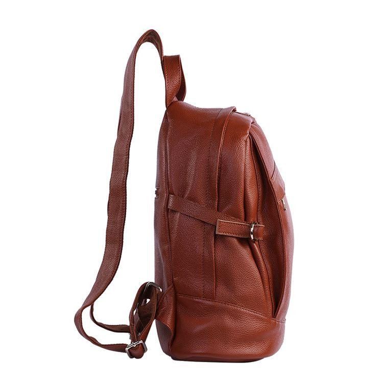 Mochilas de cuero marrón grande online con el precio de outlet bolsos de  moda 73612df26955f
