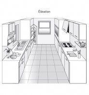 plan de cuisine en parall le dans une pi ce carr e plan de cuisine marie claire maison et plans. Black Bedroom Furniture Sets. Home Design Ideas