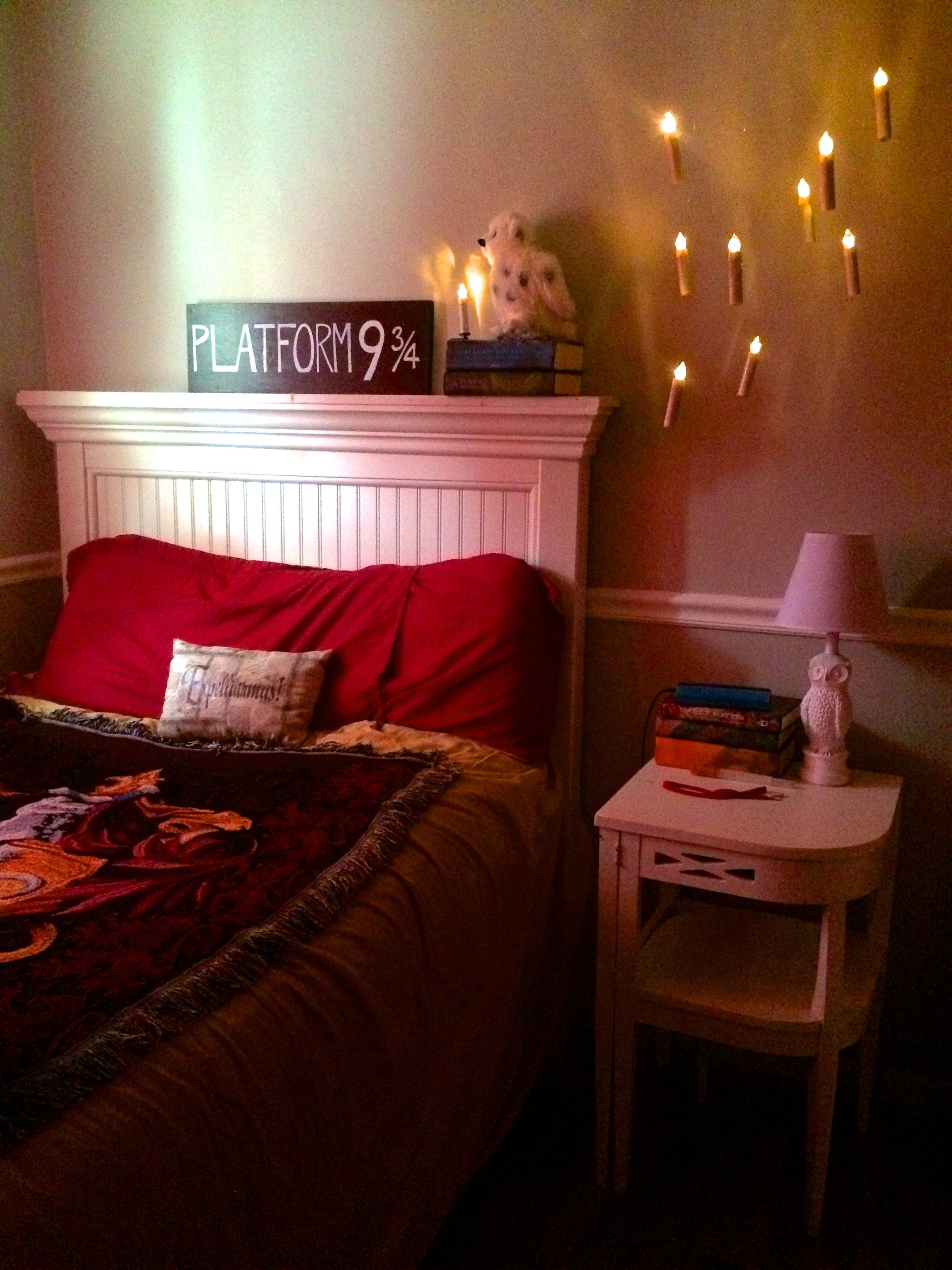 Floating Candles For The Harry Potter Bedroom Hogwarts Is My - Harry potter bedroom designs