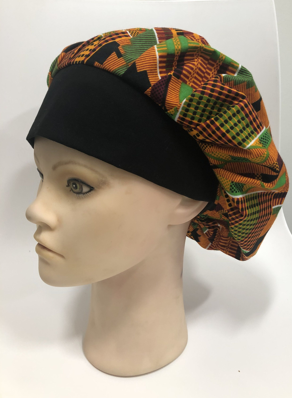 ankara bonnet cap hat surgical cap hat scrub hat cap
