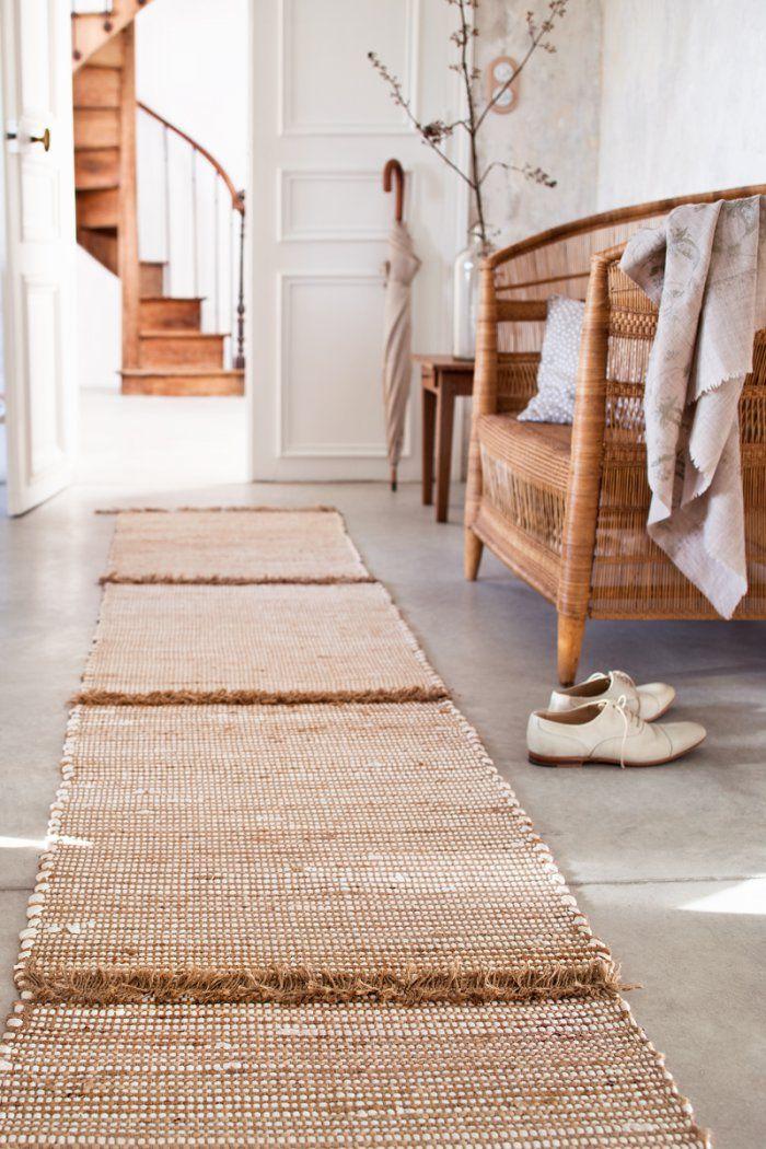 tapis de couloir en lirettes ficelles