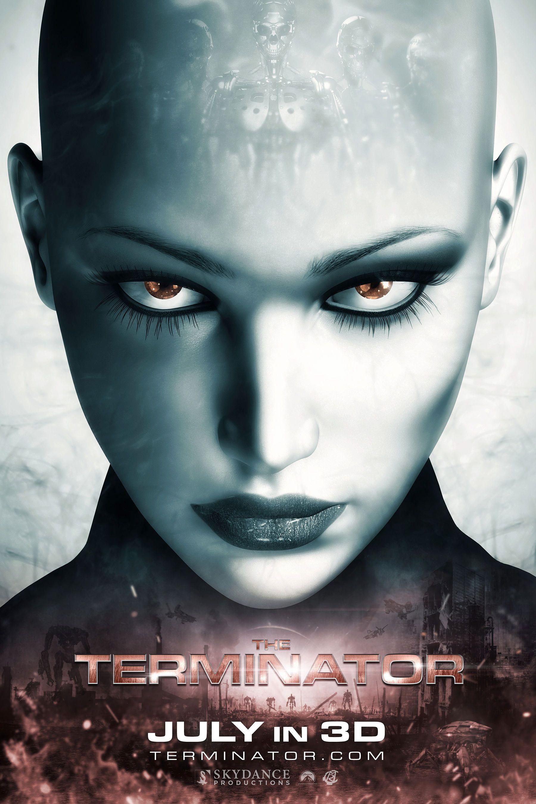 the terminator movie poster by creator ryan crain