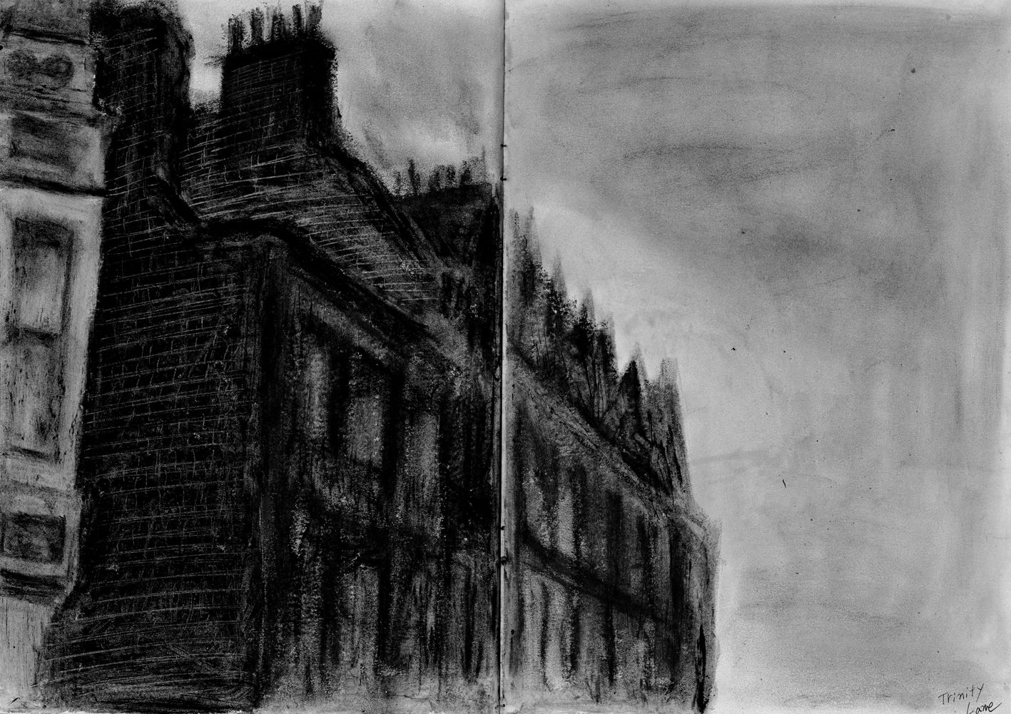 Charcoal and oil bar - Trinity Lane in the Cambridge city.