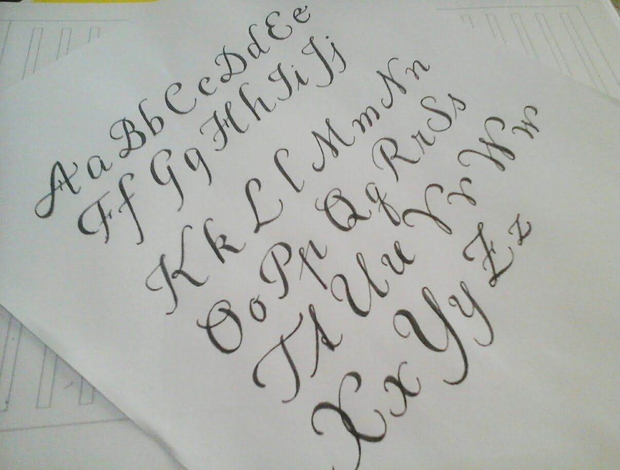 how to write cursive fancy letters - easy version for beginners