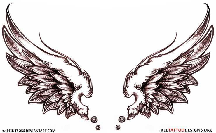 Angel Tattoos Angel Wings Guardian Angel And St Michael Designs Wingstattoosonback Neck Tattoo Wings Tattoo Beautiful Angel Tattoos