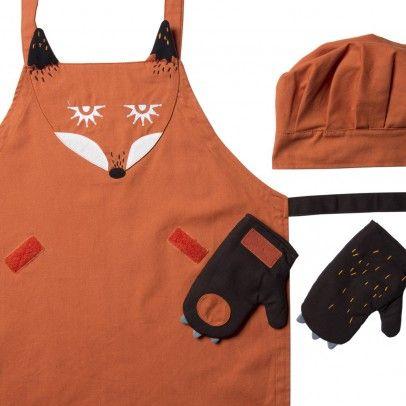 Fuchs Schürze, Mütze und Handschuhe Kooroom - Kinderzimmer-Dekoration - Smallable
