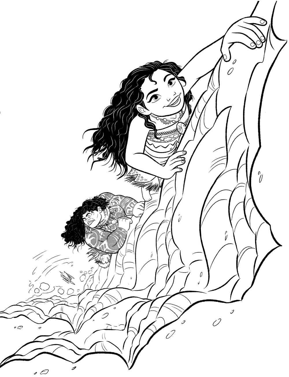 Free Moana Coloring Book Educative Printable Moana Coloring Moana Coloring Pages Coloring Pages [ 1306 x 1000 Pixel ]