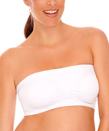 a5ad167393 Take a look at this White Seamless Padded Nursing Bandeau Bra by Lamaze  Maternity   Nursing Intimates on  zulily today!  11.99