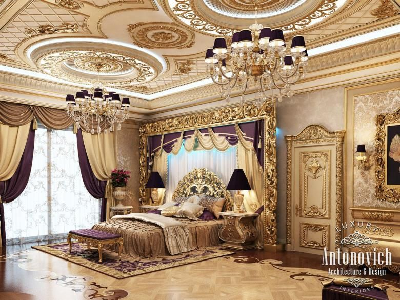 Master bedroom in classic style katrina antonovich for Bedroom designs royal