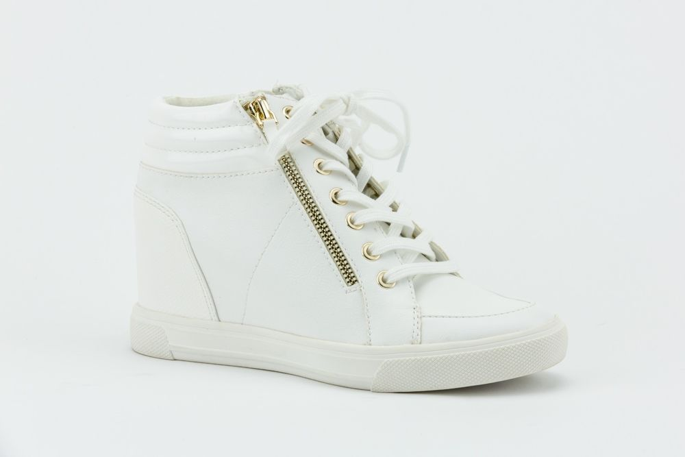 d5cf807f1a49 Aldo Kaia Lace-Up Wedge Sneakers Women s Shoes White Size 6.5M  fashion