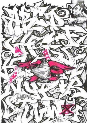 3d Graffiti Letters A Z Graffiti Alphabet Letter Font Graffiti