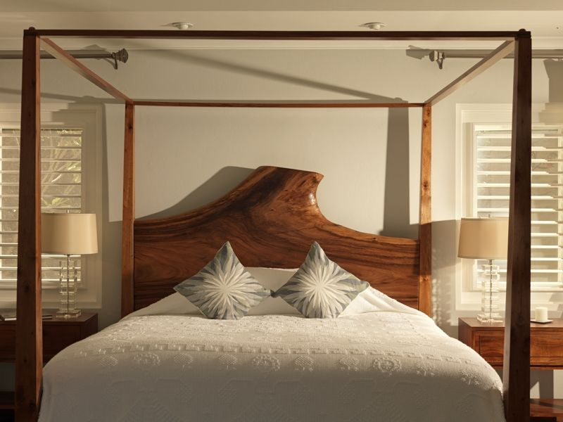 Custom Made Jamaican Modern Four Poster Bed In Cottage 7. Http://jamaicainn