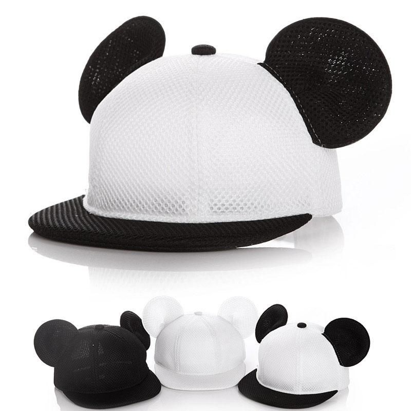 Cartoon Mesh Baby Cap Summer Adjustable Baseball Cap for Children with Ears  2-4y 7763ce6fb4be
