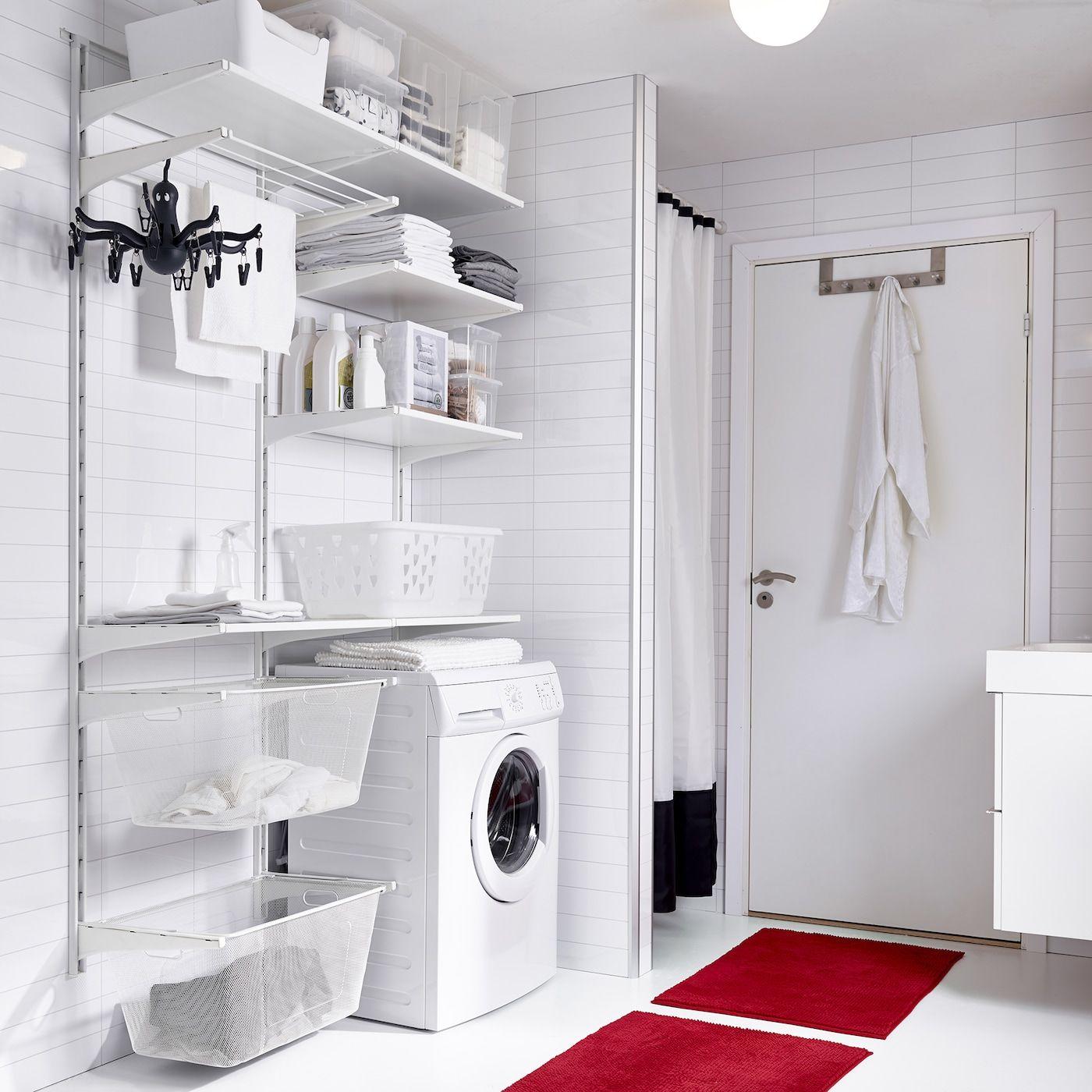Aufbewahrungsmoglichkeiten Im Waschraum In 2020 Waschraum Waschkuche Mobel Waschelager