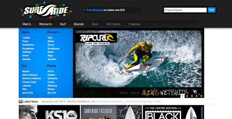 SurfRide.com E-Commerce Website by @elevator