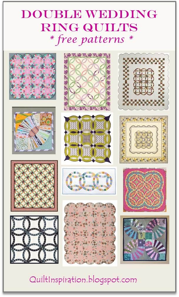 Wedding Ring Quilt Inspiration And Free Patterns Quilting