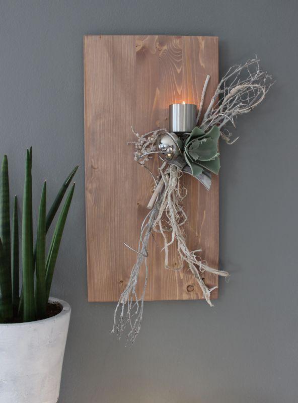 wd74 edle wanddeko holzbrett gebeizt dekoriert mit. Black Bedroom Furniture Sets. Home Design Ideas