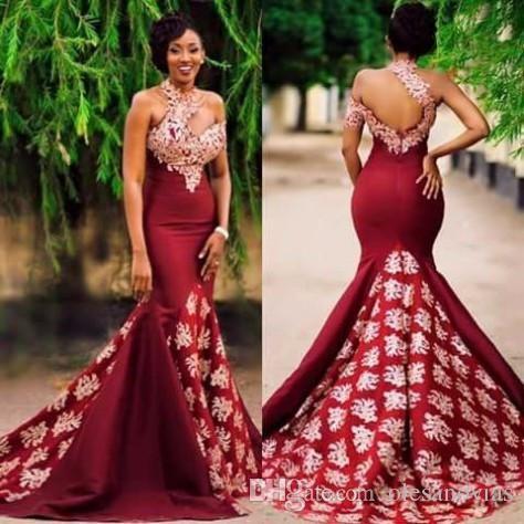 African Print Mermaid Evening Dresses